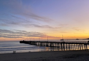sunset at Avila Beach pier